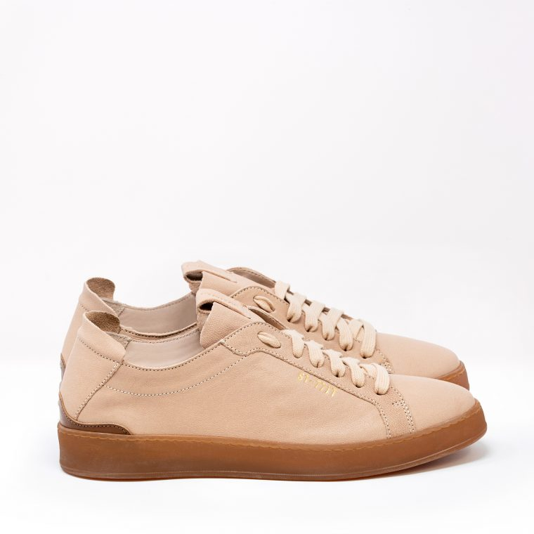 Stokton Sneakers Pelle Cipria lato