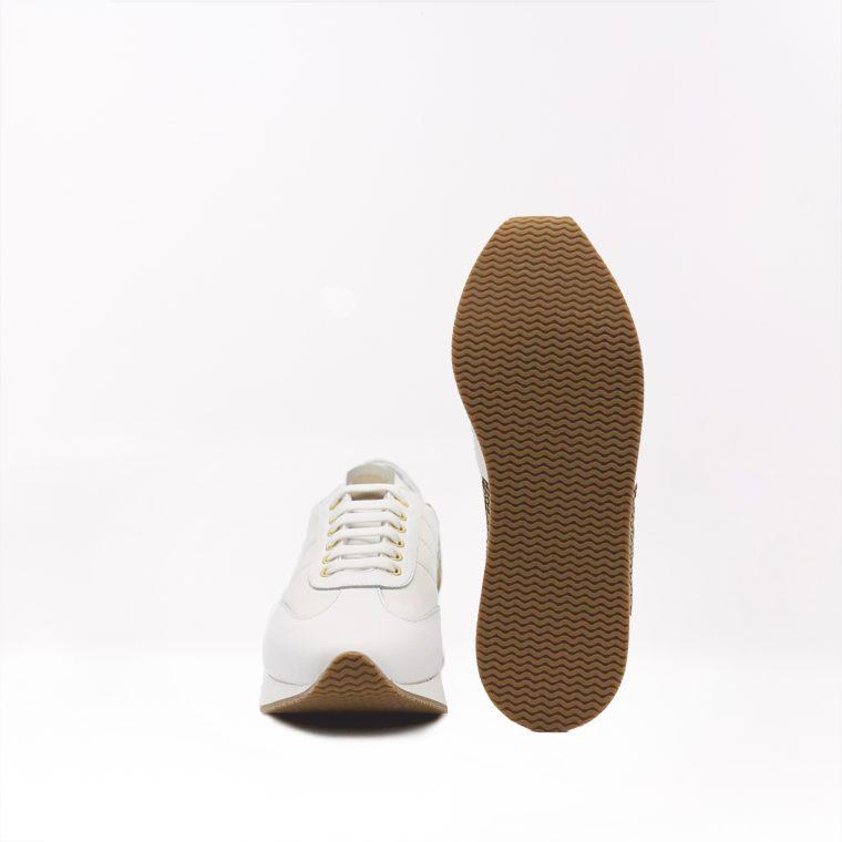 borbonese sneaker pelle avorio fronte alto