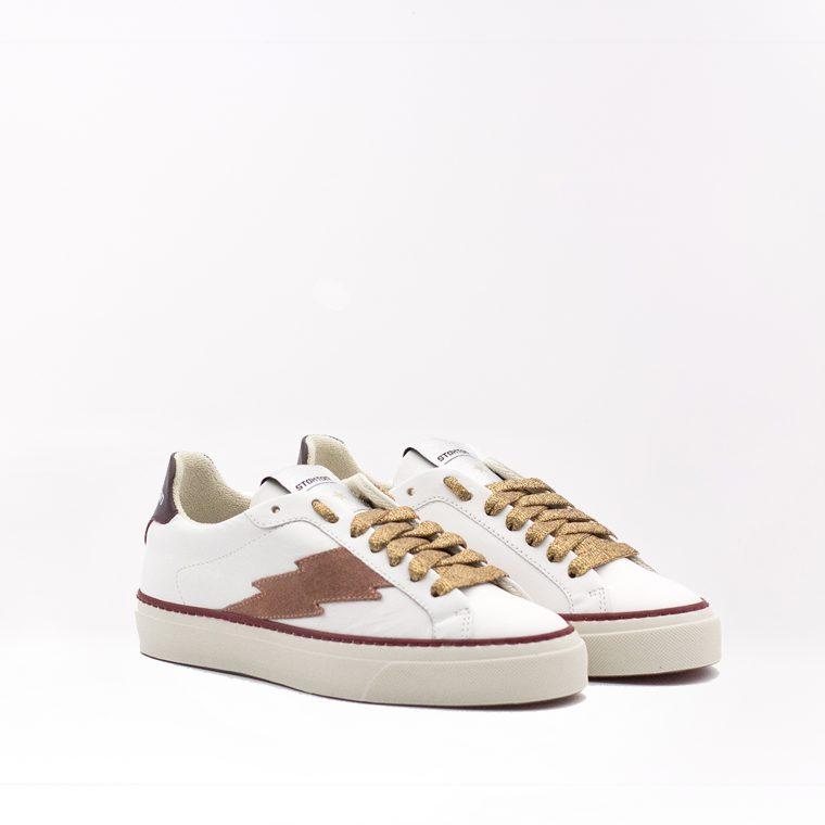 Stokton Sneaker Blaze Malaga Bianca e Rossa obliquo