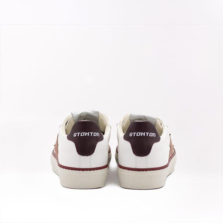 Stokton Sneaker Blaze Malaga Bianca e Rossa retro
